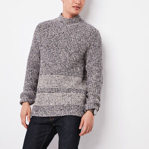 Roots-Men Sweaters & Cardigans-Trapper Mock Sweater-Grey Twist-A