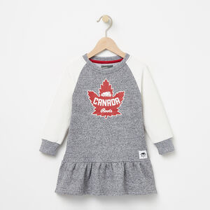Roots-Gifts Toddler Girls-Toddler Heritage Canada Dress-Salt & Pepper-A