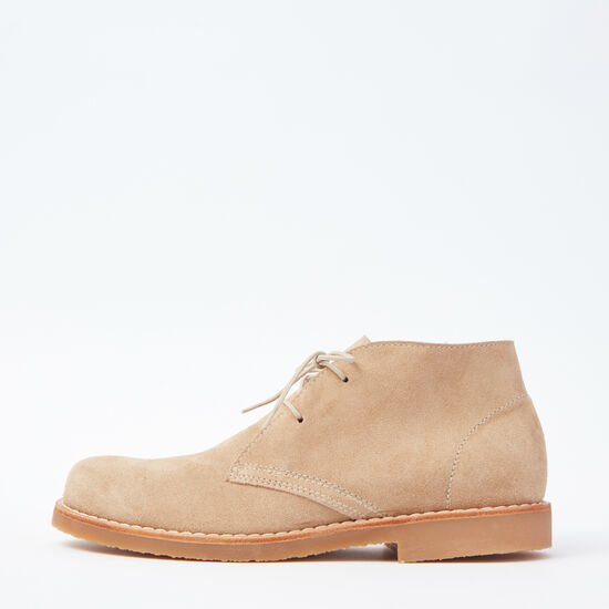 Roots-Shoes Boots-Mens Chukka Boot Suede-Sand-A