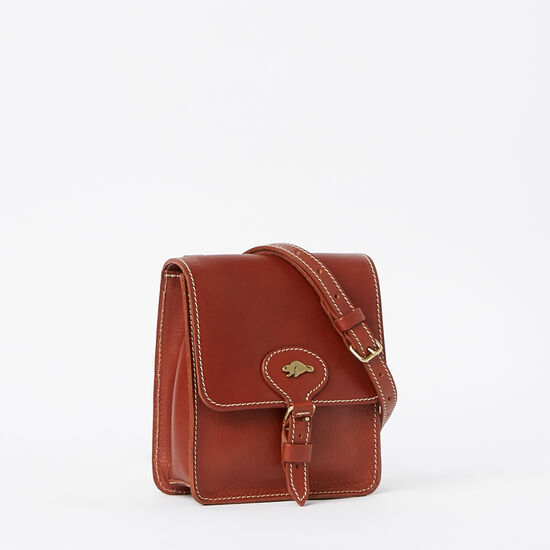 Roots-Leather Handbags-Money Bag Veg-Oak-A