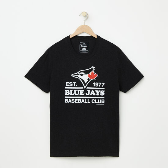 Roots-Men Toronto Blue Jays™-Mens Blue Jays Cooper T-shirt-Black Mix-A