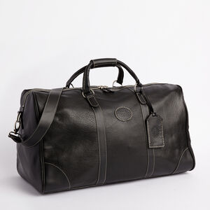 Roots-Leather Weekender Bags-Large Banff Bag-Black-A