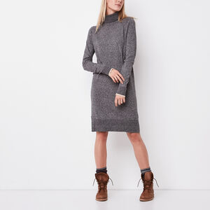 Roots-Women Dresses-Chalet Dress-Grey Oat Mix-A