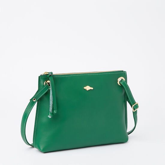 Roots-Women Bestsellers-Edie Bag Bridle-Emerald-A