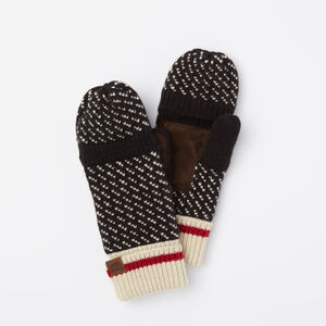 Roots-Women The Roots Cabin Collection™-Roots Cabin 3-point Flip Mitt-Black-A