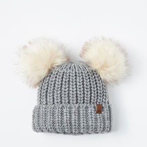 Roots-Gifts Toddler Girls-Toddler Olivia Pom Pom Toque-Grey Mix-A