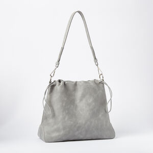 Roots-Leather Tribe Leather-Drawstring Hobo Tribe-Quartz-A