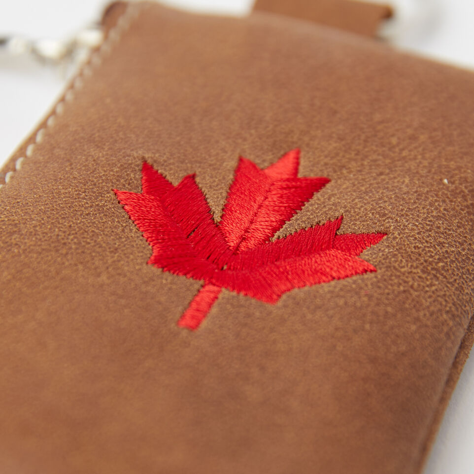 Roots-undefined-Maple Leaf Top Zip Pouch Tribe-undefined-C