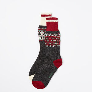 Roots-Women Socks-Melissa Cabin Sock 2 Pack-Lodge Red-A