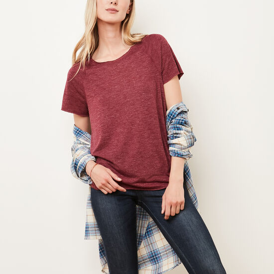 Roots-Women Features-Lia T-shirt-Rhododendron Mix-A