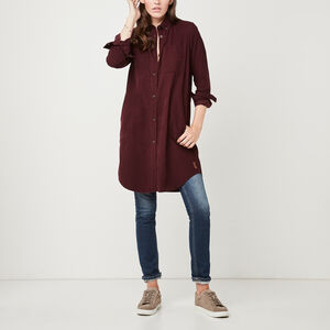 Roots-Women Dresses-Anderson Corduroy Dress-Crimson-A