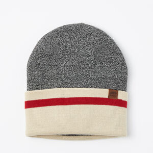 Roots-Men Hats-Log Cabin Toque-Salt & Pepper-A