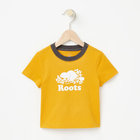 Roots-Kids New Arrivals-Baby Cooper Beaver T-shirt-Yellow Shadow-A