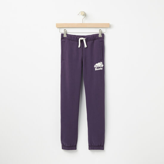 Roots-Kids Bottoms-Girls Original Sweatpant-Night Shade-A