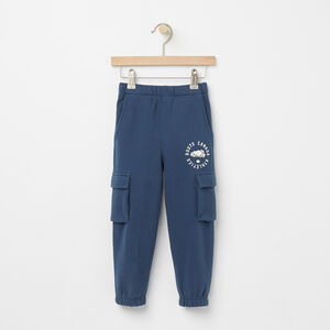 Roots-Kids Bottoms-Toddler Brandon Cargo Sweatpant-Insignia Blue-A