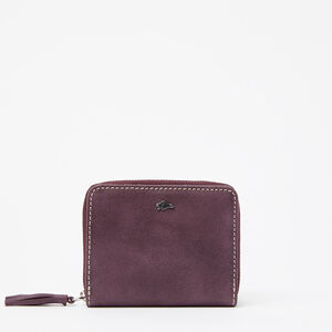Roots-Leather New Arrivals-Small Tassel Wallet Tribe-Deep Purple-A