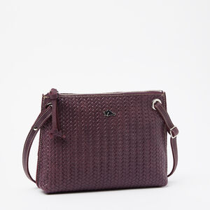 Roots-Leather Woven Tribe Leather-Edie Bag Woven Tribe-Deep Purple-A