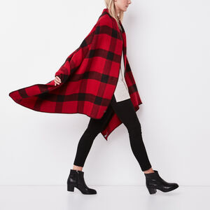 Roots-Women Accessories-Bonita Blanket Scarf-Lodge Red-A