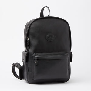 Roots-Leather Backpacks-Central Pack Box-Black-A