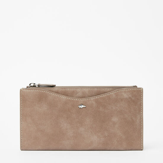 Roots-Leather Wallets-Stella Wallet Tribe-Fawn-A