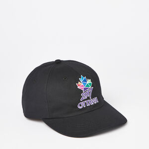 Roots-Men Ottawa 2017 Collection-Ottawa 2017 Baseball Cap-Black-A