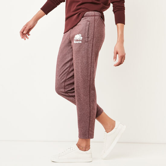 Roots-Women Slim Sweatpants-Mabel Lake Ankle Sweatpant-Crimson Pepper-A