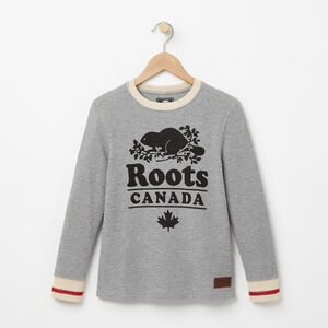 Roots-Kids Boys-Boys Roots Cabin Waffle Top-Grey Mix-A