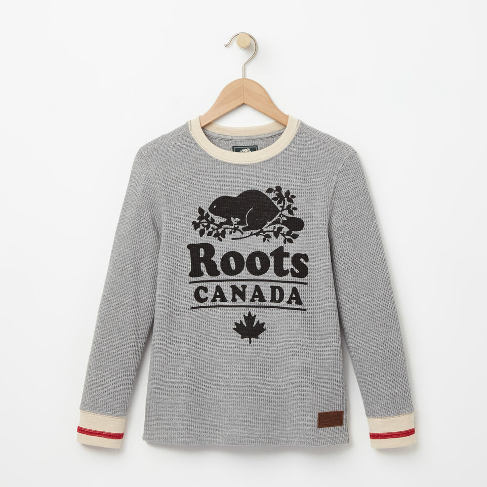 Roots-undefined-Boys Roots Cabin Waffle Top-undefined-A