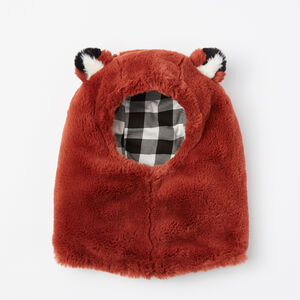 Roots-Kids Accessories-Toddler Wildlife Snoody-Red Fox-A