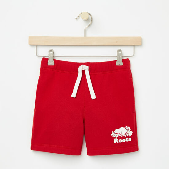 Roots-Sale Girls-Girls Cooper Canada Sweat Shorts-Sage Red-A