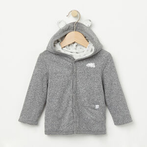 Roots-Kids New Arrivals-Baby's First Roots Cardigan-Salt & Pepper-A