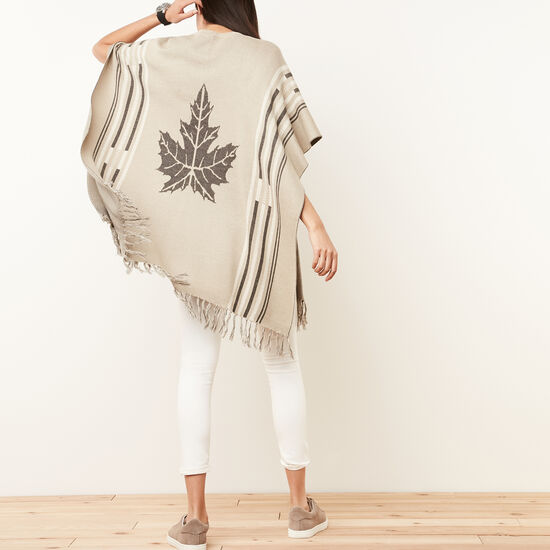 Roots-Women Scarves & Wraps-Alida Wrap-Flaxseed Mix-A