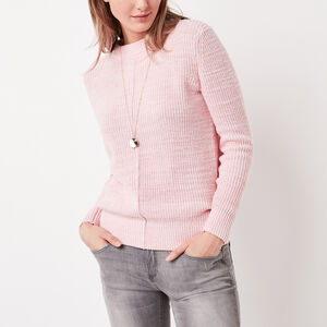 Roots-Women New Arrivals-Ridgeview Sweater-Blush Pink Mix-A
