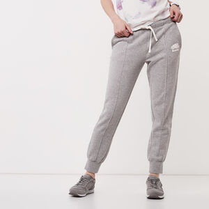Roots-Women Bottoms-Pin Tuck Slim Cuff Sweatpant-Grey Mix-A