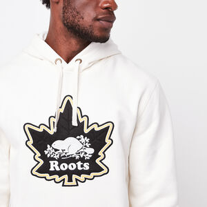Roots-Gifts World Famous Sweats-Mens Heritage Beaver Hoody-Pristine White-A