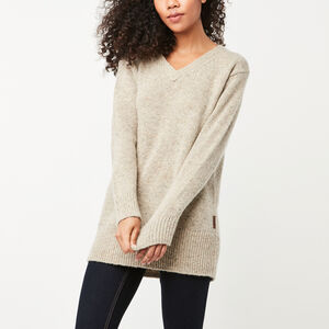 Roots-Sale Apparel-Emery V Neck Pullover-Flaxseed Mix-A