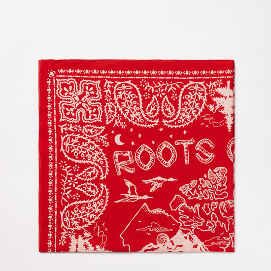 Roots-Women Scarves & Wraps-Canada Bandana Wrap-Sage Red-A