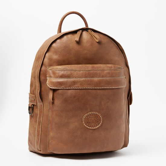 Roots-Leather Backpacks-Student Pack Tribe-Africa-A