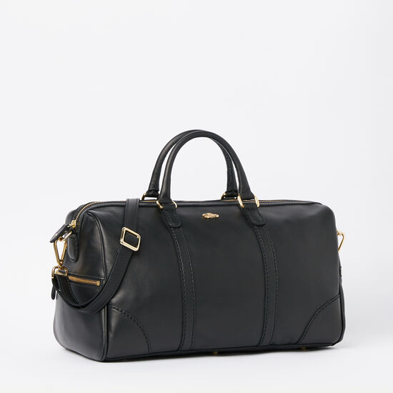 Roots-Leather Handbags-Banff Satchel Box-Black-A