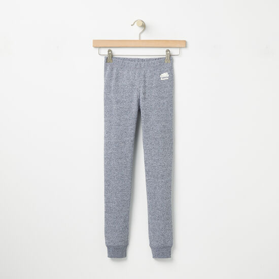 Roots-Kids Bottoms-Girls Roots Original Cozy Legging-Salt & Pepper-A