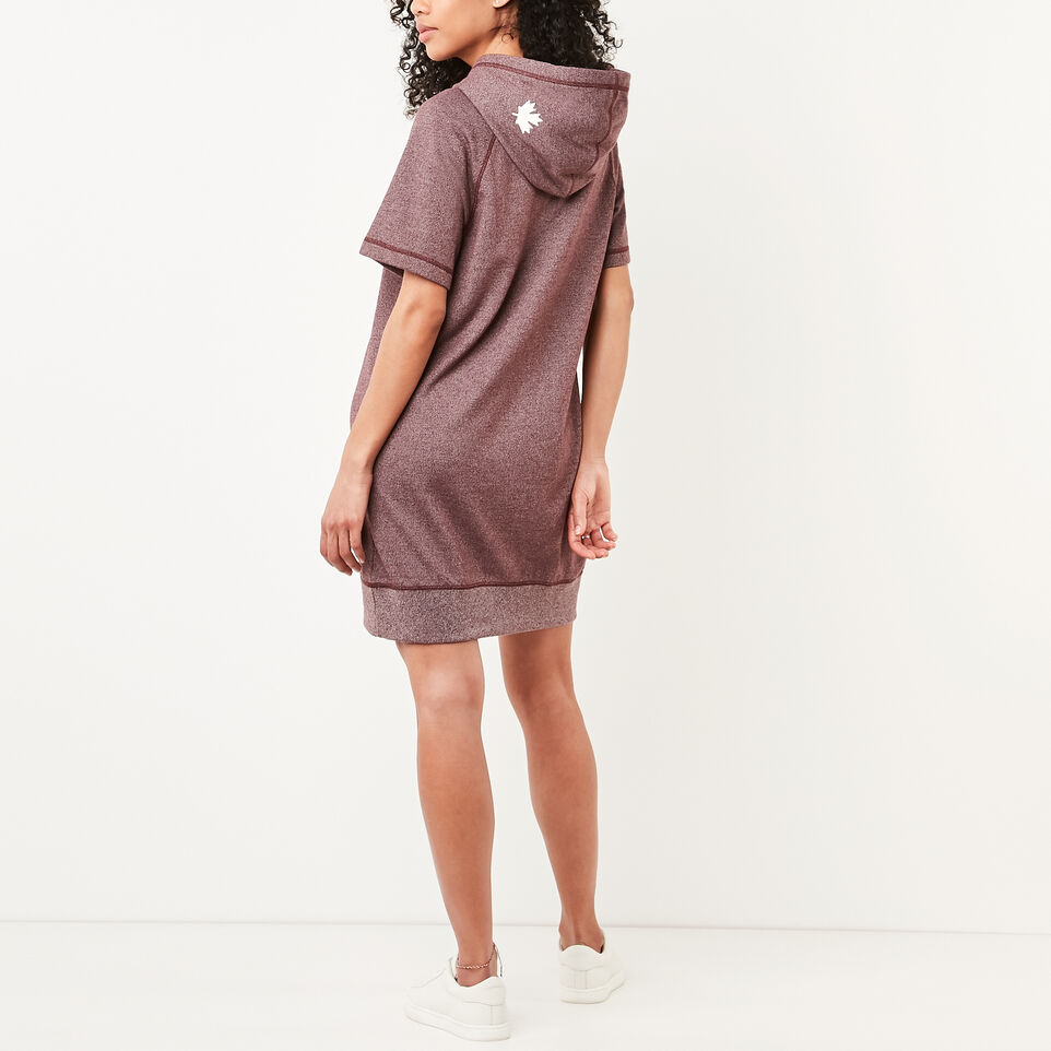 Roots-undefined-Cut Off Hooded Fleece Dress-undefined-D