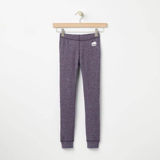 Roots-Kids Bottoms-Girls Roots Original Cozy Legging-Night Shade Pepper-A