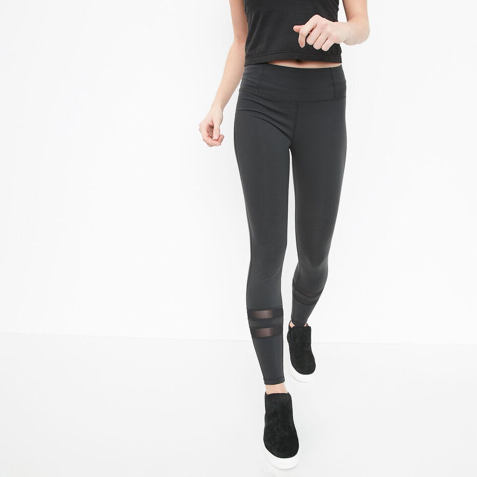 Roots-undefined-High Waist Mesh Panel Legging-undefined-A