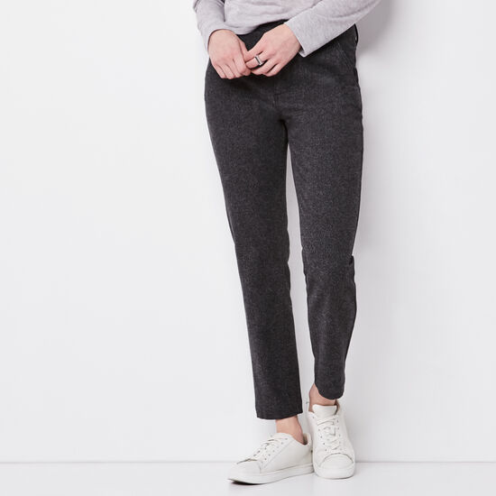 Roots-Women Pants-Canopy Tweed Pant-Black Mix-A