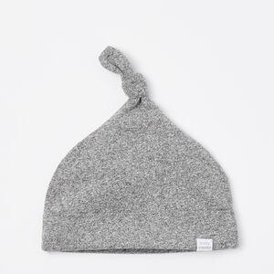 Roots-Kids New Arrivals-Baby's First Knot Hat-Salt & Pepper-A