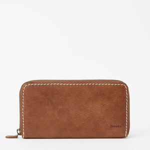 Roots-Leather Wallets-Zip Around Clutch Tribe-Africa-A