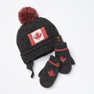 Roots-Kids Accessories-Toddler Canadiana Gift Set-Charcoal Mix-A