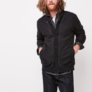 Roots-Men Sweaters & Cardigans-Rosedale Shawl Cardigan-Black Mix-A