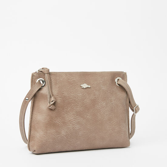 Roots-Leather Crossbody-Edie Bag Tribe-Fawn-A