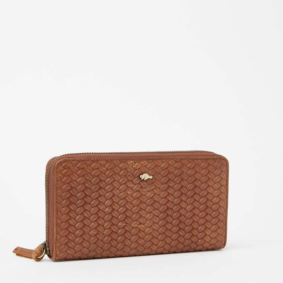 Roots-undefined-Zip Around Clutch Woven-undefined-F